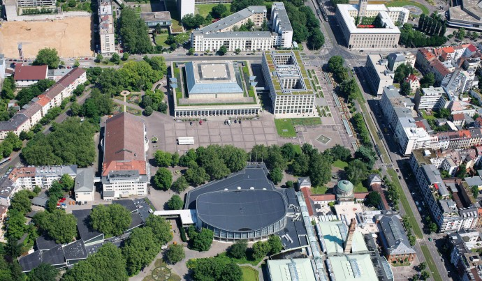 Aerial photograph of the Festplatz
