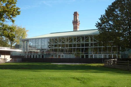 The Gartenhalle photographed from the petting zoo